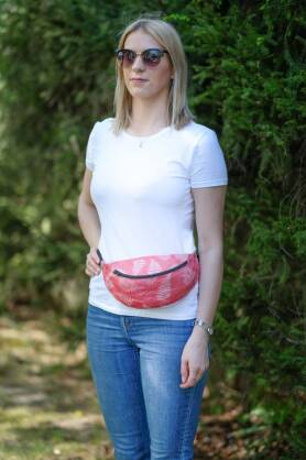 Waist Bag Ferns Red