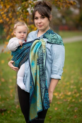 Starry Night Glitter, RING SLING, [93% Cotton, 7% Polyester]