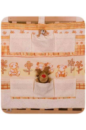 Teddies with flowers (hanging pocket)