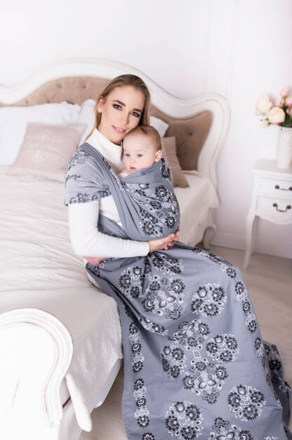 Kurpie Mono, WRAP, [50% Cotton, 25% Merino Wool, 10% Silk, 15% Ramia] baby wrap, baby wraps, babywearing, wrap, wraps, for children, for child, sling, slings, baby sling, baby slings