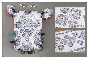 Teddy Bear NatiTati Kurpie Purple