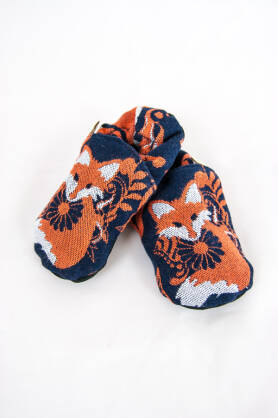 Slippers Foxes Orenji, [100% cotton]