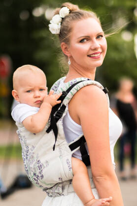 Lavender, NatiGrow Adjustable Carrier, [100% cotton]