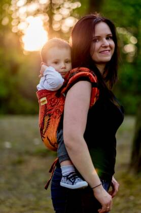 Glowing Phoenix Laranja, ONBUHIMO CARRIER, [100% cotton]