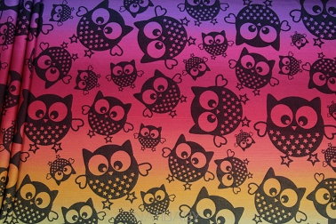 Mysterious Owls Night, WRAP, [100% cotton]