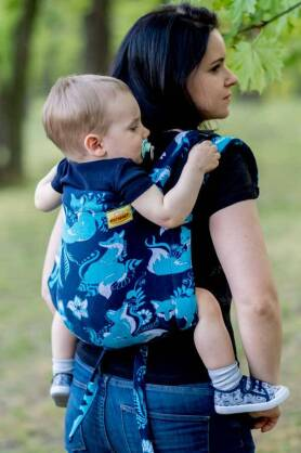 BABY Foxes Blue, ONBUHIMO CARRIER, [100% cotton]