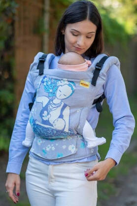 Breastfeeding Sitting Mama Pastel, NATIGO CARRIER, [93% cotton, 7% polyester]