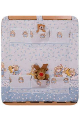 Blue teddies  (hanging pocket)