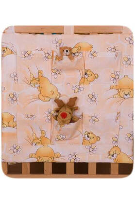Teddies and bees orange(hanging pocket)