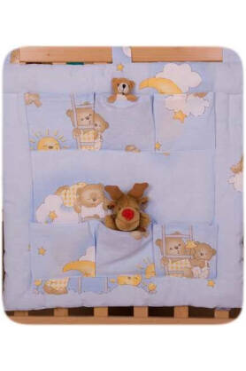 Teddies on the cloud blue  (hanging pocket)