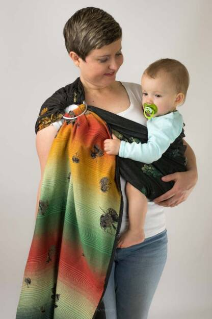 Leaves, Ring Sling, [100% cotton]