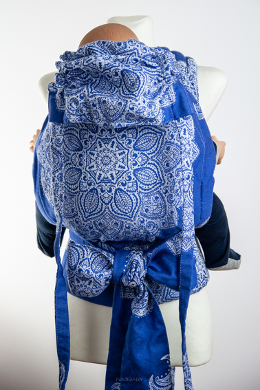 Adornos Indios Blue Version 2, MEI TAI CARRIER, [100% cotton]