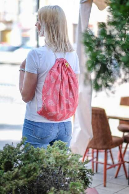 Sackpack Ferns Red