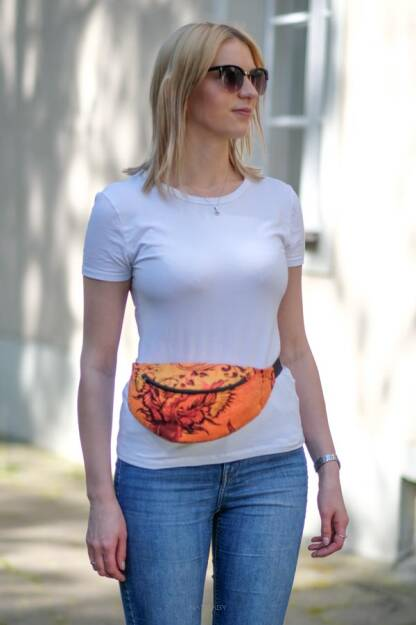 Waist Bag Glowing Phoenix Laranja