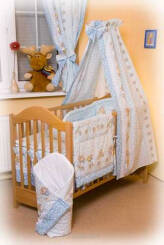 Blue teddies (bed canopy)