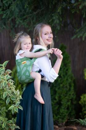 Ferns Green, ONBUHIMO CARRIER [50% cotton, 50% linen]