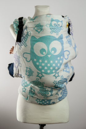 Owls Aurora Glitter, NATIGO CARRIER, [90% cotton, 10% polyester]