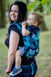 Foxes Blue, ONBUHIMO CARRIER, [100% cotton]