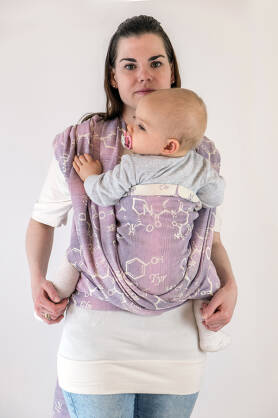 Oxytocin Lavender, WRAP, [60% cotton, 40% linen]