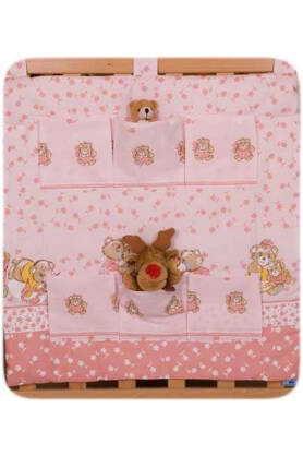 Pink teddies (hanging pocket)