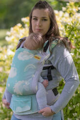 Unicorn Cotton Candy Aurora Glitter, NATIGO CARRIER, [90% cotton, 10% polyester]