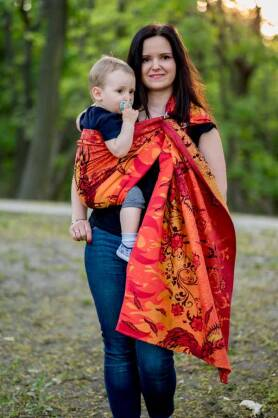 Glowing Phoenix Laranja, Ring Sling, [100% cotton]