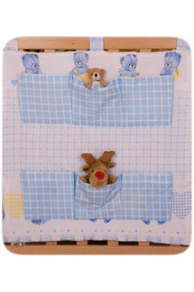 Teddies with a flag (hanging pocket)