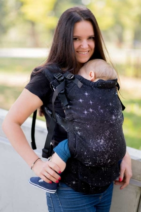 Galactica Mono, NatiGrow Adjustable Carrier, [51% cotton, 27% merino wool, 15% linen, 7% polyester]
