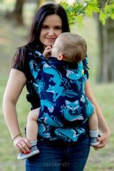 Foxes Blue, NatiGrow Adjustable Carrier, [100% cotton]