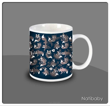 NatiMug Foxes Marrom