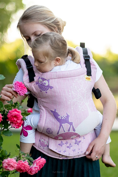 Happy Pink Glitter, NATIGO CARRIER, [10% polyester, 90% cotton]