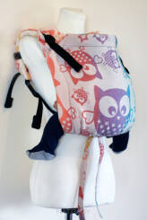 Owls Rainbow Love, ONBUHIMO CARRIER, [100% cotton]