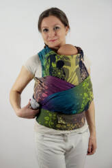 Flying Without Wings Indigo, HALF BUCKLE CARRIER, [100% cotton]