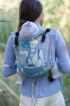 Breastfeeding Sitting Mama Pastel, ONBUHIMO CARRIER, [93% cotton, 7% polyester]