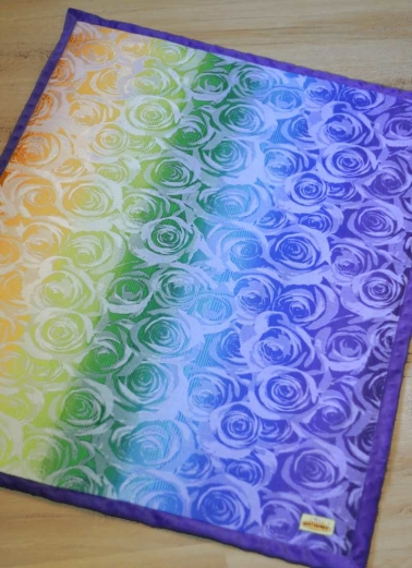 NatiBlanket Roses white rainbow #1