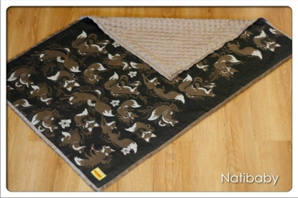 NatiBlanket Foxes Nero