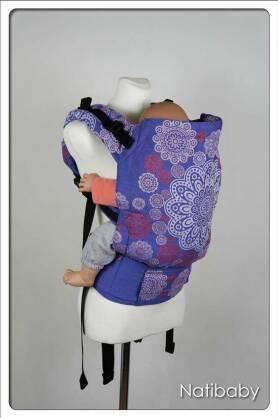 Ornament Circles Lazur, NATIGO CARRIER, [90% cotton, 10% polyester]