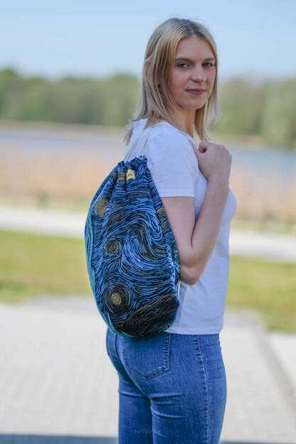 Sackpack Starry Night Glitter