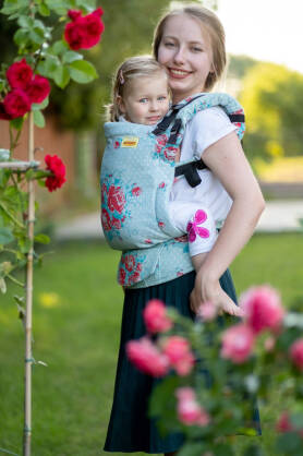 Sweet Roses, NatiGrow Adjustable Carrier, [100% cotton]