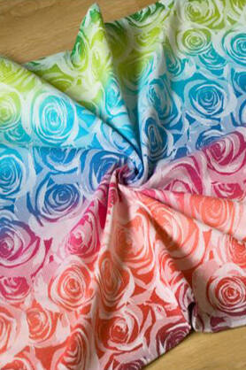 Roses Rainbow 2, RING SLING, [100% cotton]