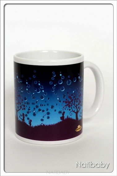 NatiMug Bubbles Azul