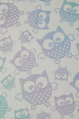 Owls Aurora Glitter, RING SLING, [90% cotton, 10% glitter]