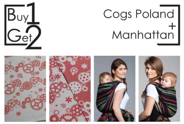 Buy1Get2 Cogs Poland 4.6 sp.off. + Manhattan RING L baby wrap, baby wraps, babywearing, wrap, wraps, for children, for child, sling, slings, baby sling, baby slings