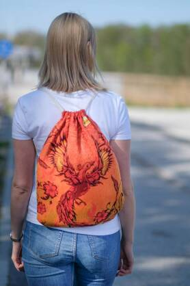 Sackpack Glowing Phoenix Laranja