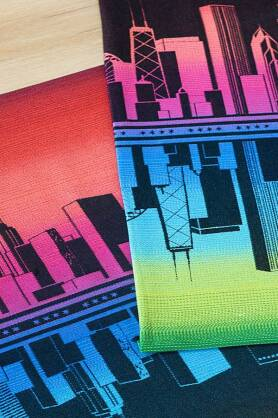 Windy City Chicago Rainbow 2, WRAP, [100% cotton]