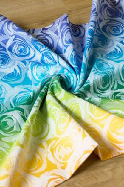 Roses White Rainbow #1, RING SLING, [100% cotton]