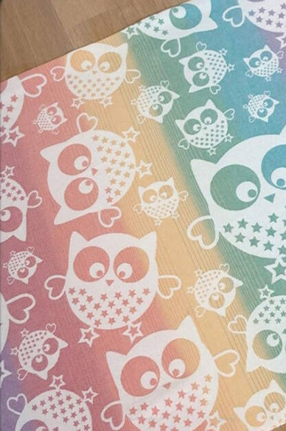 Owls Rainbow Love SCRAPS