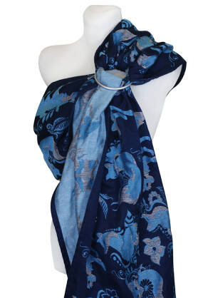 Foxes Blue, RING SLING, [100% cotton]