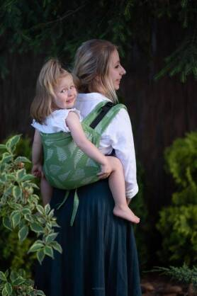 BABY Ferns Green, ONBUHIMO CARRIER, [100% cotton]