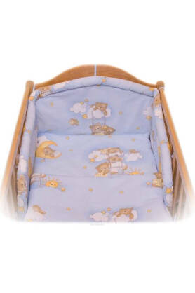 Teddies on the cloud blue (bumper pad)